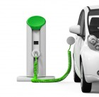 48425248 - electric car in charging station