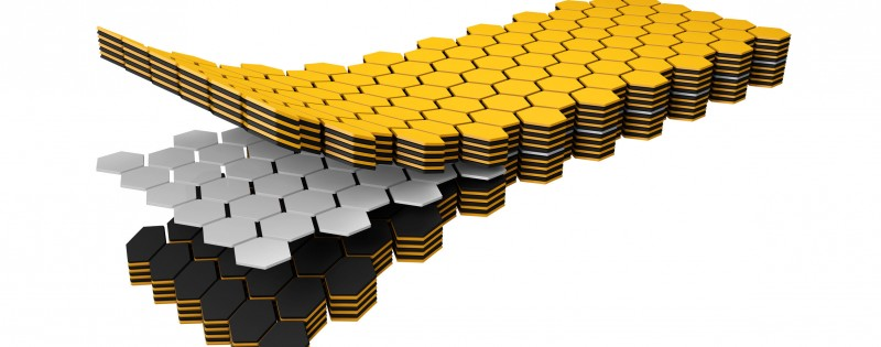 90606635 - 3d illustration of twist sodium ion battery technology, nano sandwich.
