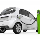 21459907 - electric car in charging station